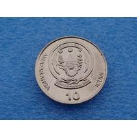 """Руанда. 10 франков 2003 год  """"Банановое дерево""""  KM#24"""