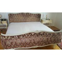 Старинная кровать, в стиле Людовика ХV, Франция, 20-й век, дерево, патина