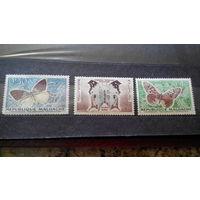 Марки - фауна, насекомые, бабочки, Мадагаскар