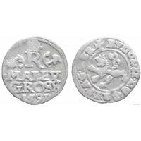 YS: Богемия, малейгрошен 1591, Рудольф второй, серебро, Dietiker# 265, редкость
