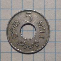 Палестина 5 милс 1927г