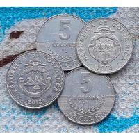 Коста-Рика 5 колон. Инвестируй выгодно в монеты планеты!