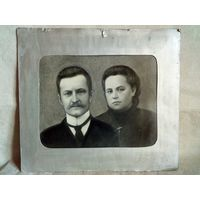 Семейный фотопортрет в паспарту Большой формат
