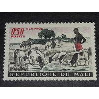 Мали 1961 Фауна Домашний скот Пастух чистая марка
