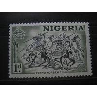 Марка - фауна, лошади, оружие, война, Нигерия, колонии