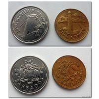 Барбадос - 2 монеты (из коллекции - цена за все)