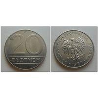 20 злотых Польша 1989 год, Y# 153.2, 20 ZLOTYCH - из коллекции