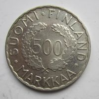 Финляндия. 500 марок 1952.  Серебро.          10Е-30А