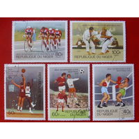 Нигер. Спорт. ( 5 марок ) 1976 года.