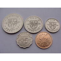 Гана. набор 5 монет 1/2, 2 1/2, 5, 10, 20 песев 1967-79 VF - XF
