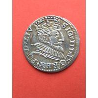 3 грош 1593 года. Оригинал. Без МЦ, с рубля.
