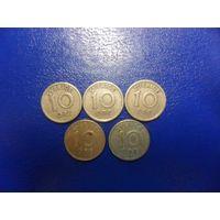 Швеция 10 эре 1924,1925 г.г.-цена за монету