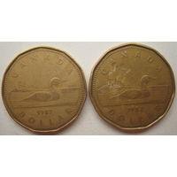 Канада 1 доллар 1987, 1988 гг. Цена за 1 шт.