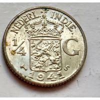 Голландская Ост-Индия 1/4 гульдена, 1941 S - Сан-Франциско 1-7-35