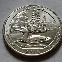 25 центов, квотер США, нац. парк Вояджерс, штат Миннесота, P