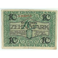 Германия, 10 марок 1918 год.