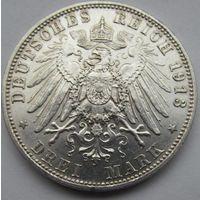 3 марки 1913 D Бавария с блеском