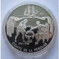 Самоа 10 тала 1994 Жан-Франсуа де Лаперуз - серебро 0,925, нечастая!