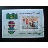 Мавритания 1978 Футбол, чемпионат мира Надпечатка Блок