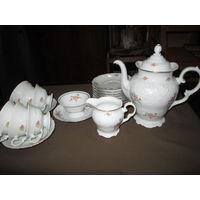 Сервиз чайно-кофейный WAWEL Польша на 6 персон+запасные предметы.