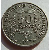 Западная Африка  50 франков 1997 г