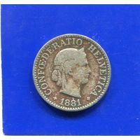 Швейцария 10 раппен 1881