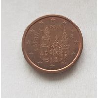 1 евроцент 2013 Испания