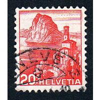 27: Швейцария, почтовая марка, 1936 год, номинал 20с, SG#375A