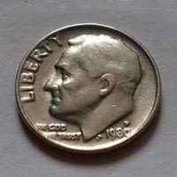 10 центов (дайм) США 1980 P