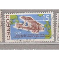 Авиация самолеты  50-летию первого беспосадочного трансатлантического полета Канада 1969 год лот 7 Менее 10 % от каталога