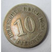 Германия. 10 пфеннигов 1900 E .  1-35