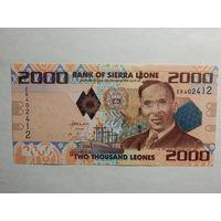 Сьерра-Леоне 2000 леоне 2010г UNC