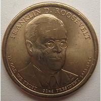 США 1 доллар 2015 г. 32-й Президент США Франклин Делано Рузвельт