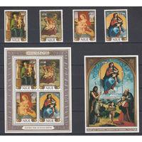 Религиозная живопись. Ниуе. 1986. 4 марки и 2 блока (полный комплект). Michel N 681-684, бл105-106 (46,0 е)