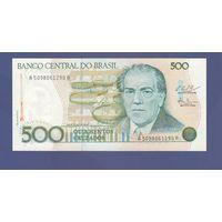 Банкнота Бразилия 500 крузадо (1986-88) UNC ПРЕСС