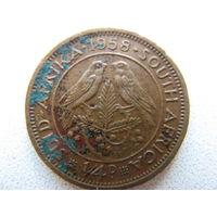 Южная африка 1/4 пенни 1958 г.