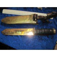Редкость! Нож водолаза ВМФ СССР, лезвие бериллиевая бронза.