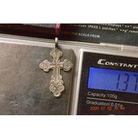 Крестик серебряный 84 проба.