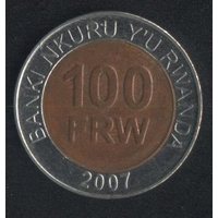 Руанда 100 франков 2007 г. (*). Сохран!!!