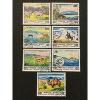 Животные и пейзажи. Монголия,1982, серия 7 марок