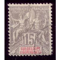 1 марка 1900 год Гваделупа 42 2
