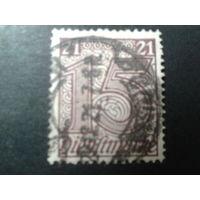 Германия 1920 служебная марка