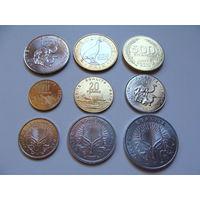 Джибути. полный набор 9 монет 1, 2, 5, 10, 20, 50, 100, 250, 500 франков 1991 - 2013 год