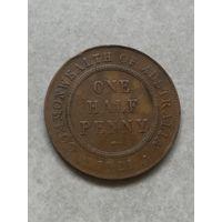 Австралия пол пенни 1921г С рубля