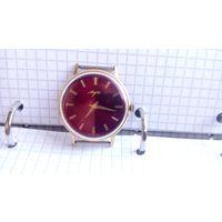 """Часы """"Луч 2209"""" костюмные ультратонкие золочение au-20 Редкий циферблат"""