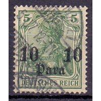 Германия Почта в Турции 10 пара/5 пф Wz 1 1906 г