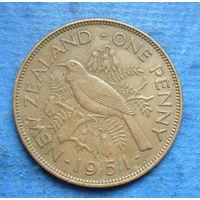Новая Зеландия 1 пенни 1951 Георг VI
