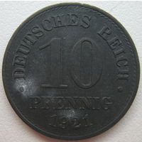 Германия 10 пфеннигов 1921 г. (g)