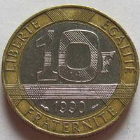 Франция, 10 франков 1990 г