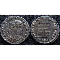 YS: Древний Рим, Крисп, медный фоллис 317-326 н.э., монетный двор Лондинии (PLON)